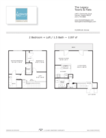 Copper 2 Bedroom Townhouse Floor Plan The Legacy Towns